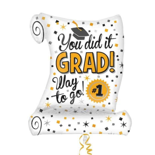 "You Did It GRAD!  (26"") *Helium*"