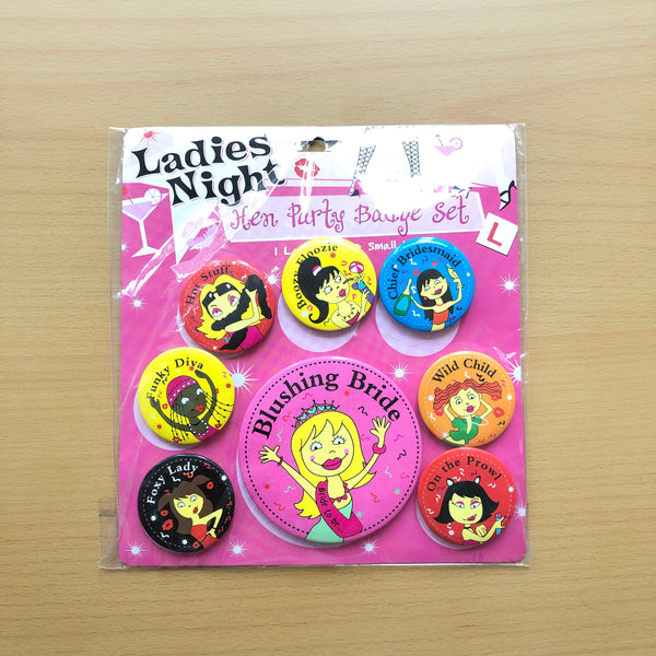Hen Party Badge Set