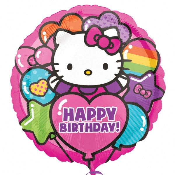 "Hello Kitty Love Happy Birthday  (17"") *Helium*"