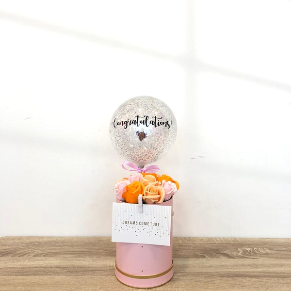 (Classic) Pink Peach - Soap Rose Blooms Box