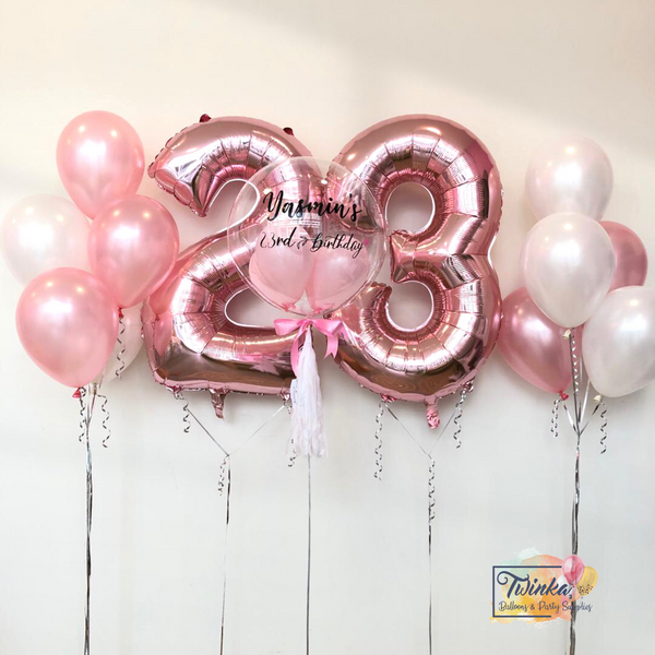 *March & April RM230* Pink & White Set *Helium*