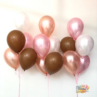 Earth Pink Bunch *Helium* (Price for one bunch)