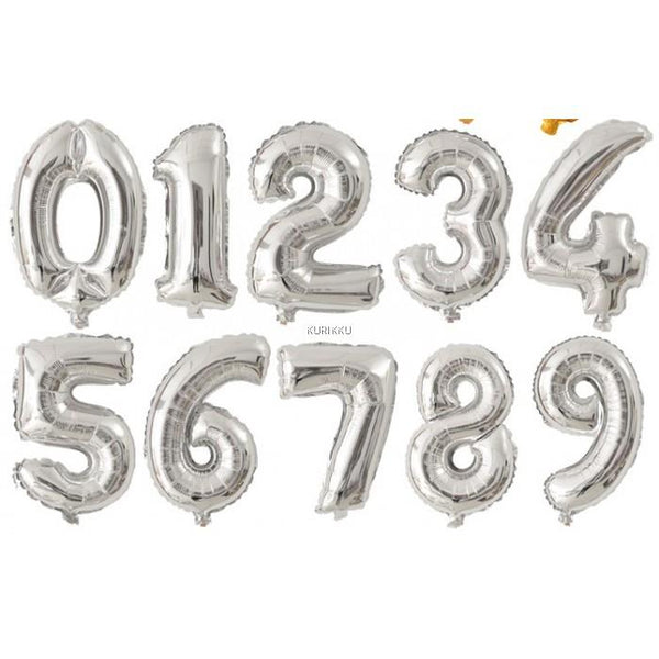 "14"" Number Small Foil (SILVER) *Normal Air*"