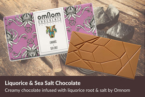 Omnom chocolate liquorice and sea salt Iceland