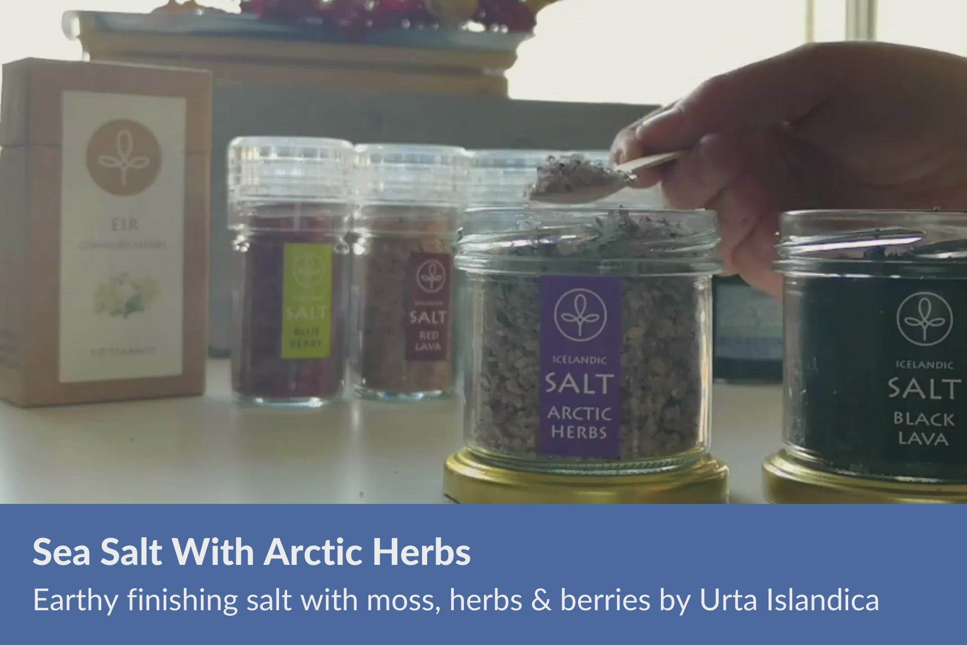 Arctic herbs sea salt Iceland by Urta Islandica