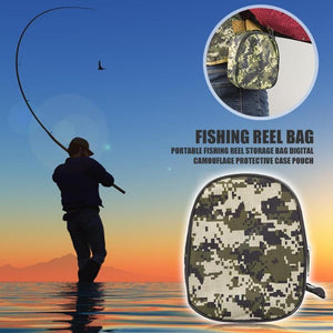 Camouflage Fishing Reel Storage Bag