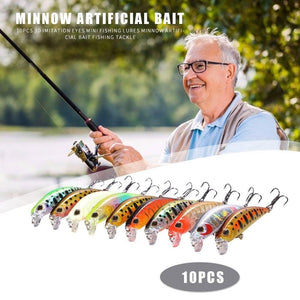 10pc Minnow Crankbait Wobbler Collection