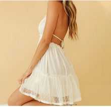 Load image into Gallery viewer, Cute Backless Lace Halter Mini Dress