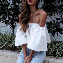 Load image into Gallery viewer, Stylish Flare sleeve Crop Top