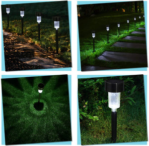 Solar Lights Outdoor Garden Lamp Lights for Pathway Walkway Patio Yard Lawn