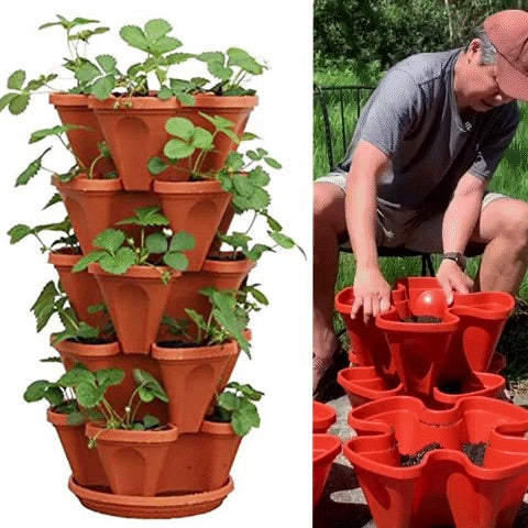 Vertical Stacking Plant Pots