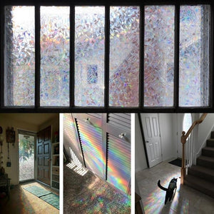 3D Rainbow Privacy Window Film