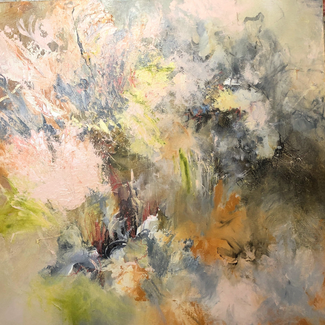 Soft as Petals, 36 x 36 inches