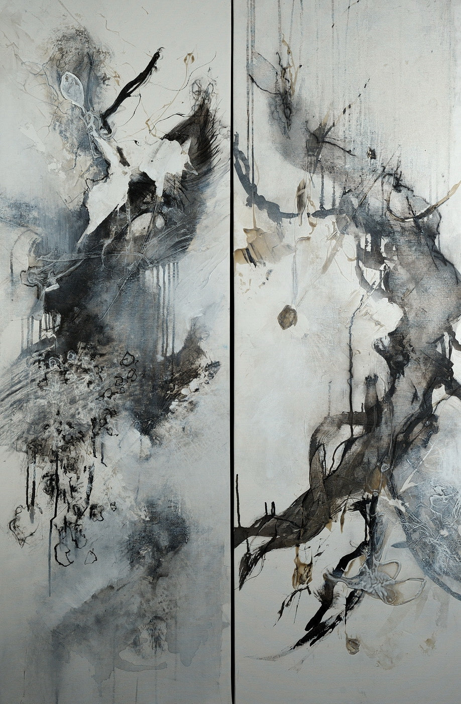 Beginning and Ending (Diptych), 60 x 40 inches
