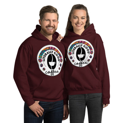 Literally Good Coffee Printed Unisex Hoodie - Literally Good Coffee Company