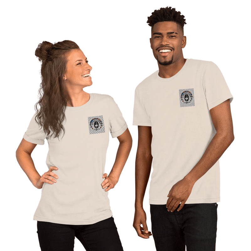 Literally Good Coffee Embroidered Short-Sleeve Unisex T-Shirt - Light Colors - Literally Good Coffee Company