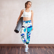Load image into Gallery viewer, Blue Swirl Yoga Pants