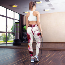 Load image into Gallery viewer, Pink, Gold Art Designed Yoga Leggings