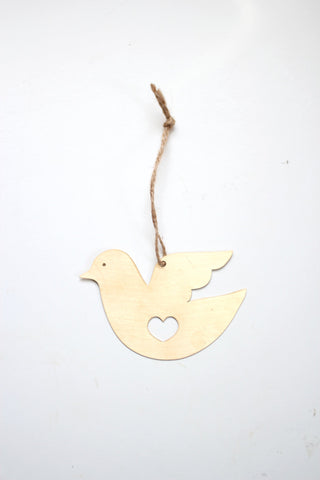 Dove Heart Ornament