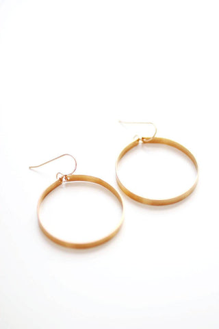 Sculptural Large Hoop Earrings | Large Hoops | Gold Hoops | Silver Hoops | Minimalist Earrings | Circle Earrings | Minimal Jewelry