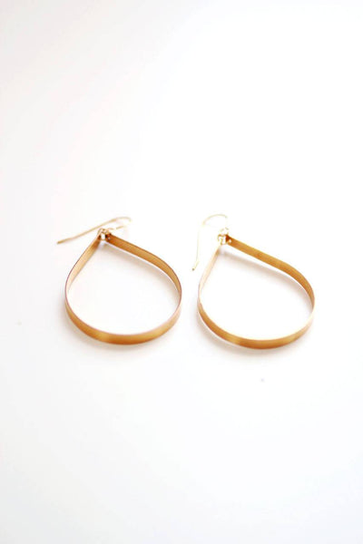 Sculptural Large Teardrop Earrings - Hoop Earrings | Delicate Earrings | Gold Filled Earrings | Dangle Earrings | Sterling Earrings