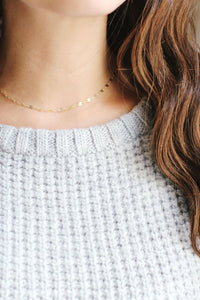 Dapped Chain Choker Necklace | 14k Gold Filled | Sterling Silver | Layer Necklace | Fine Gold Choker | Layered Choker