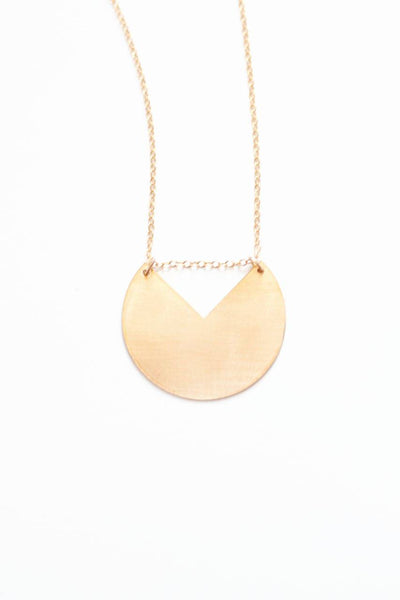 Minimalist Geometric Circle Necklace | 14k Gold Filled | Sterling Silver | Long Necklace | Brass Necklace