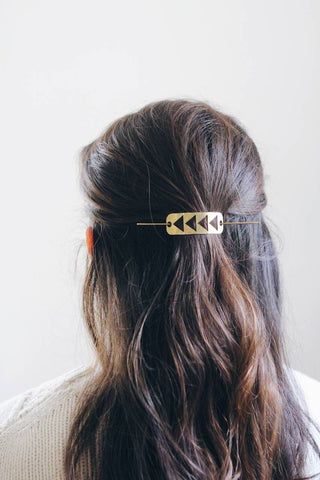 Flying Geese Hair Pin | Brass Hair Clip | Brass Hair Slide | Hair Barrette | Hair Accessories | Silver Hair Clip | Silver Hair Slide
