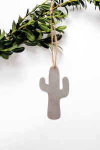 Cactus Ornament | Metal Ornament | Brass Ornament | Steel Ornament | Plant Ornament | Tree Ornament | Christmas Stocking Stuffer