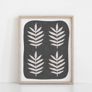 Palm Leaf Art Print - Black | Palm Art | Leaf Art | Wall Art | 8x10 Art Print | 11x14 Art Print | 8x10 Print | 11x14 Print