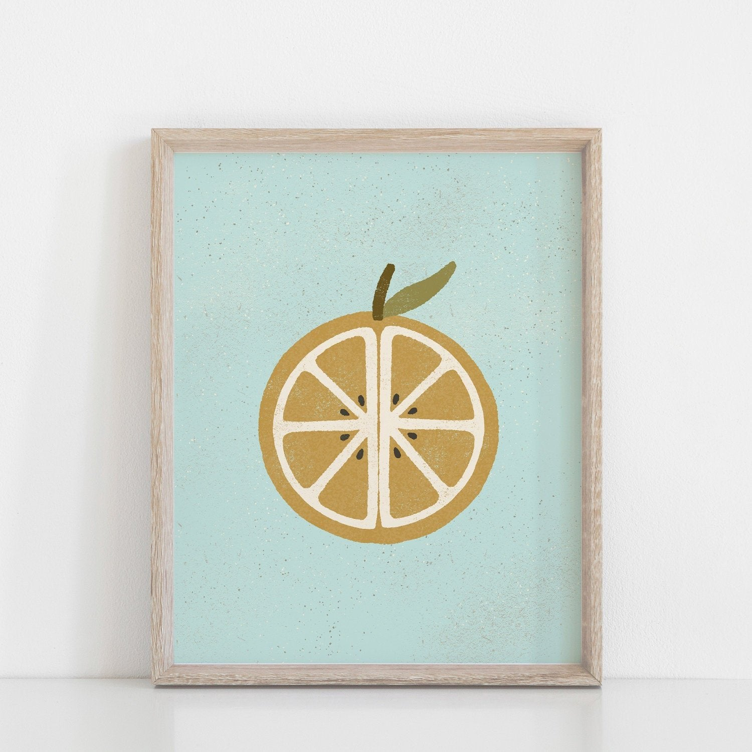 Orange Wall Art Print | Fruit Wall Art | Fruit Art | Fruit Illustration | Orange Art | Summer Art | 5x7 8x10 11x14 16x20