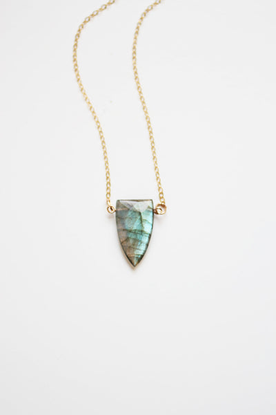 Triangle Spear Labradorite Necklace | Labradorite Jewelry | 14k Gold Fill Necklace | Sterling Silver | Gemstone Necklace | Stone Necklace
