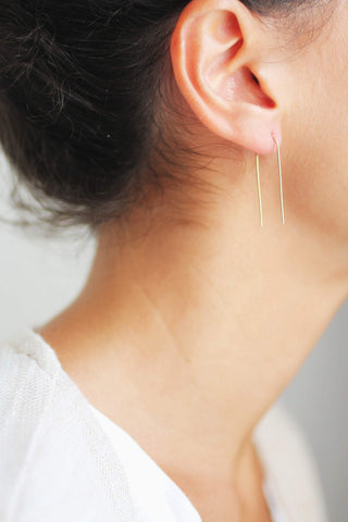 Arc Minimalist Wire Earrings | Modern Earrings | Minimalist Earrings | Geometric Jewelry | Gold Fill Earrings | Sterling Silver Earrings