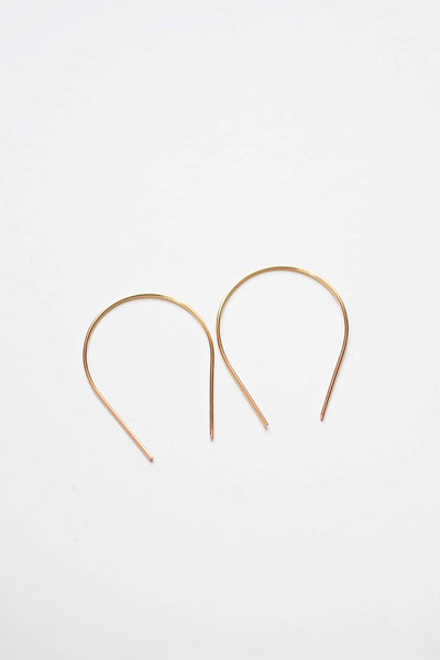 Horseshoe Minimalist Wire Earrings | Modern Earrings | Minimalist Earrings | Geometric Jewelry | Gold Fill Earrings | Sterling Silver