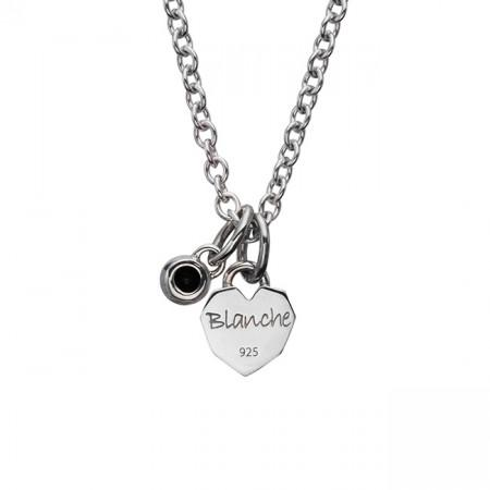 Blanche クール Silver Pendant (誕生石シリーズ) BNJ004