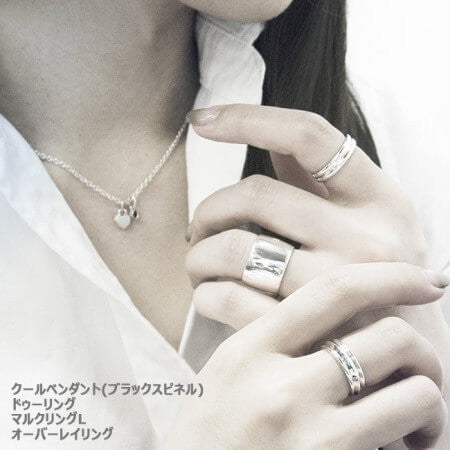 Blanche オーバーレイ Silver Ring BRP006RC