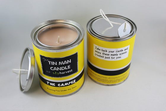 The Camper Soy Candle in Pint Paint Tin