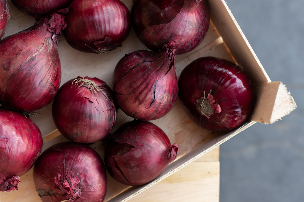 ORGANIC RED ONIONS - Bens Greengrocers