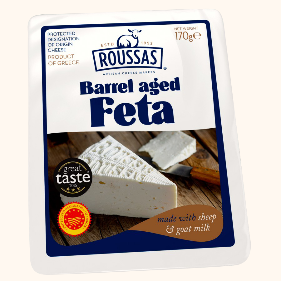 ROUSSAS BARREL AGED FETA CHEESE - Bens Greengrocers