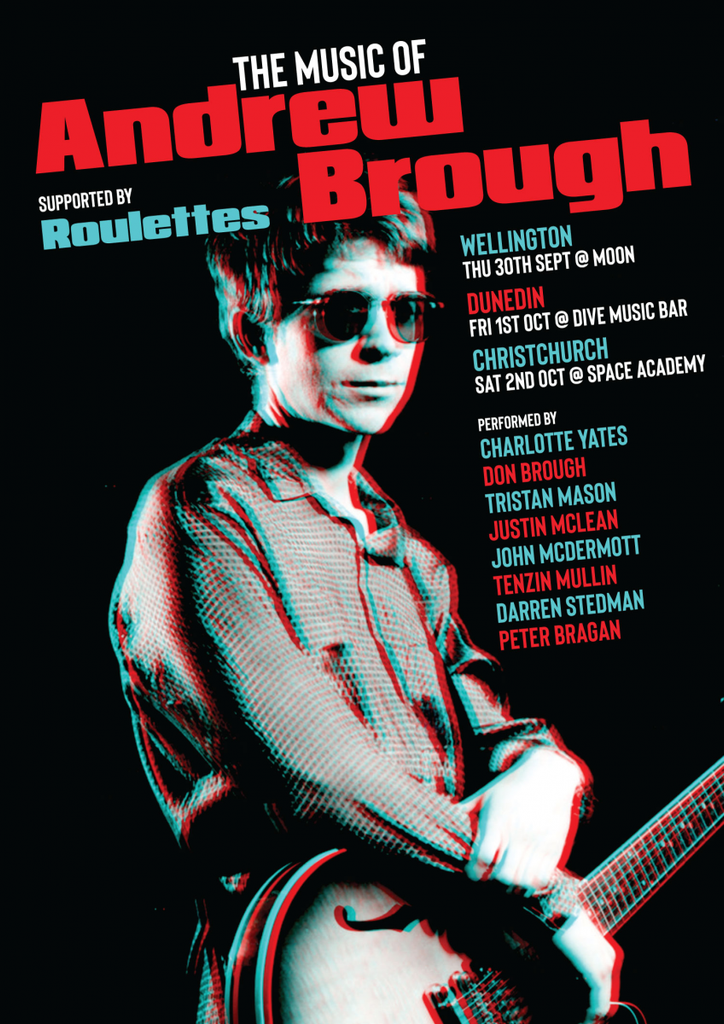 Tour poster: Andrew Brough Tribute Show