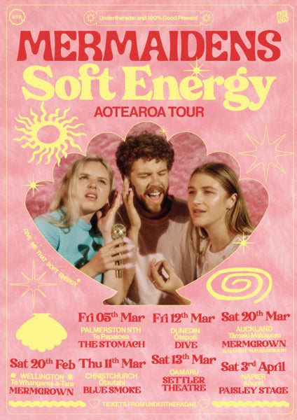 Poster: Mermaidens Soft Energy Tour March/April 2021