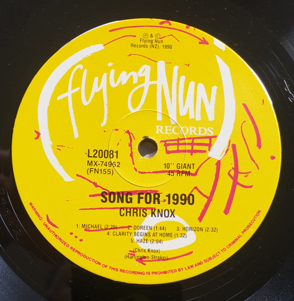FN155 Chris Knox - Song For 1990 + Other Songs (1990)