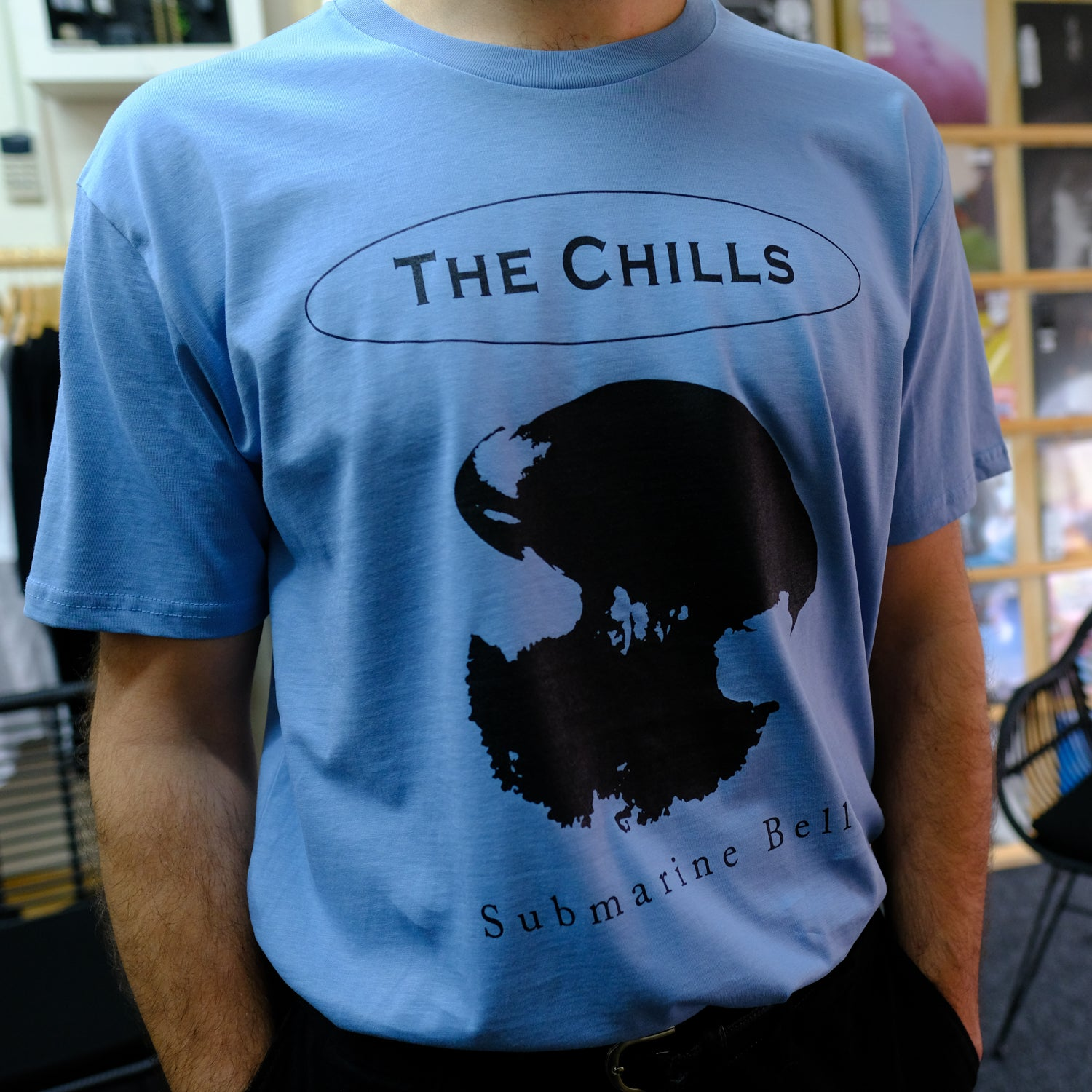 The Chills - Submarine Bells T Shirt (Carolina Blue)