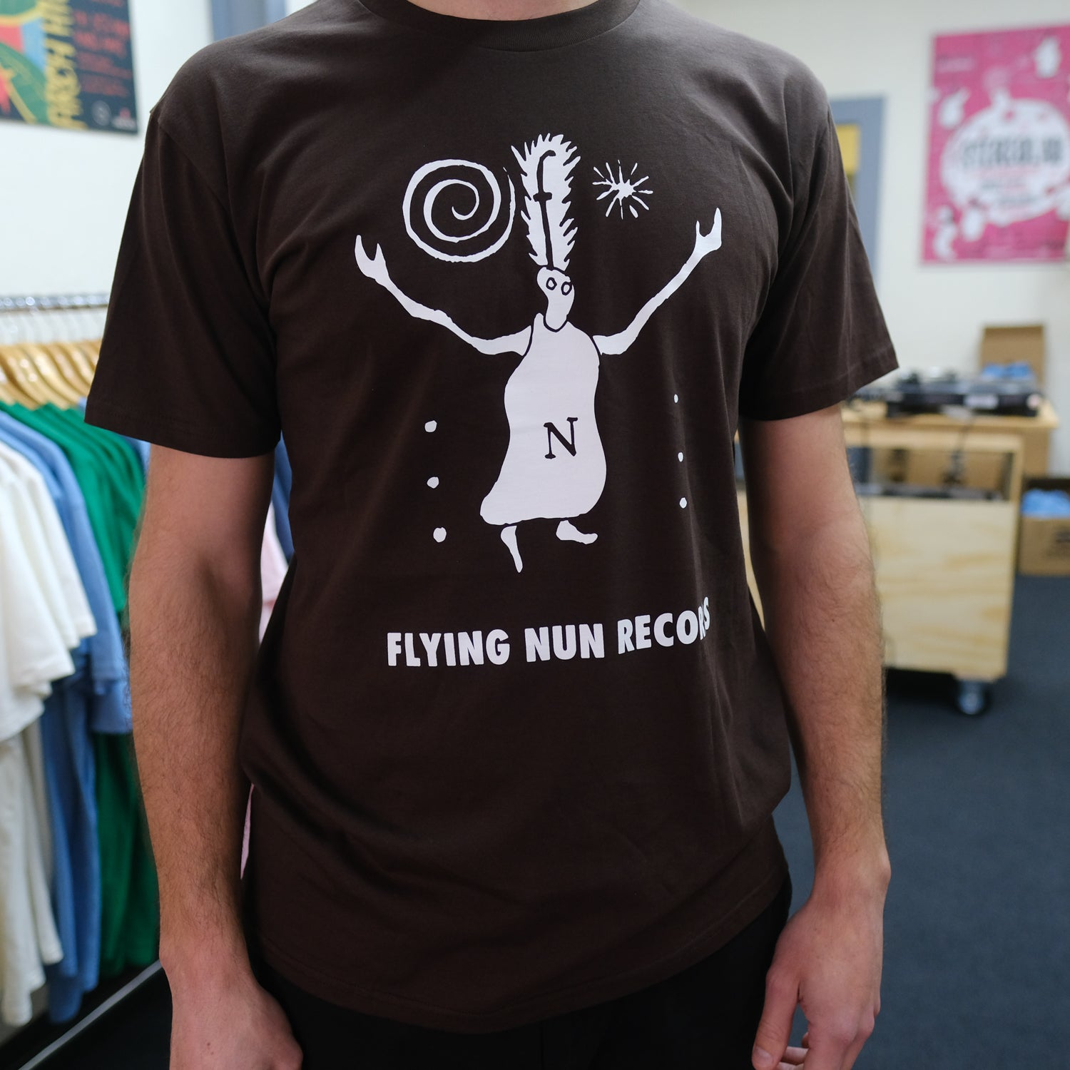 Fuzzy Flying Nun T-Shirt (Chocolate Brown)