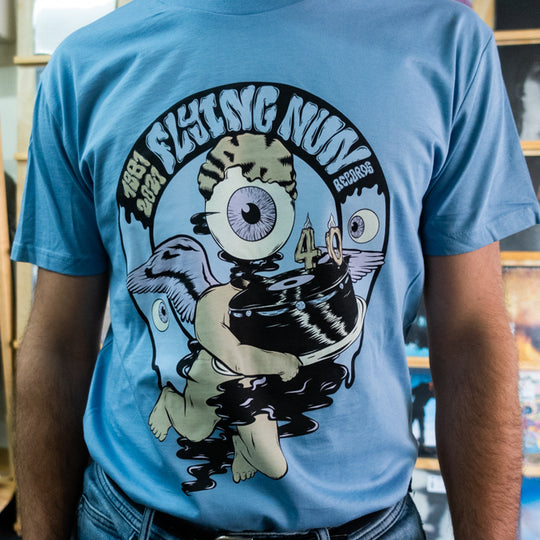 Flying Nun Records 40th Anniversary T-Shirt (Caroline Blue)