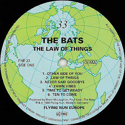FN121 The Bats ‎– The Law Of Things (1989)