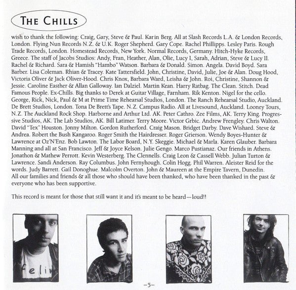 FN148 The Chills - Submarine Bells (1990)