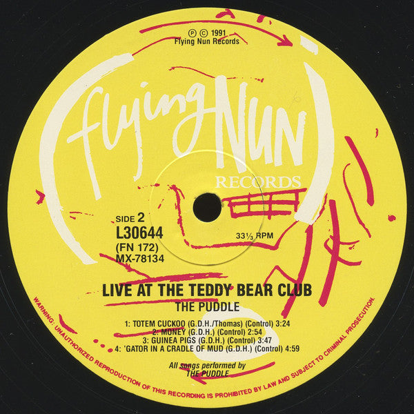 FN172 The Puddle - Live At The Teddy Bear Club (1991)