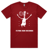 Fuzzy Flying Nun T-Shirt (Cardinal Red)