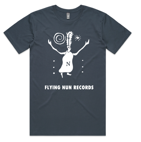 Fuzzy Flying Nun T-Shirt (Petrol Blue)